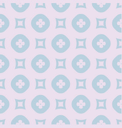 subtle geometric floral seamless pattern lilac vector image
