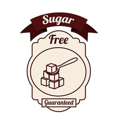 sugar free product vector image