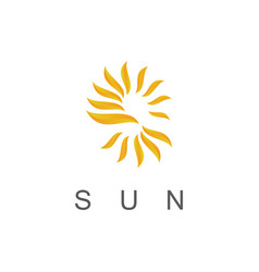 Sun shine logo vector