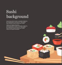 Sushi bar background banner vector