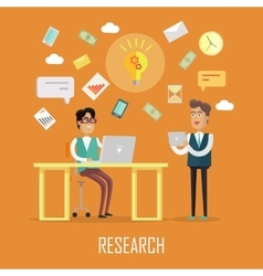Teamwork Research Concept vector image