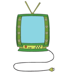Television cartoon vector