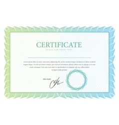 Template that is used in certificate currency vector