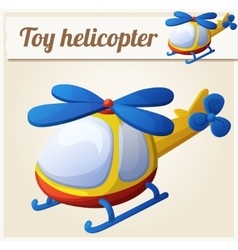 Toy helicopter Cartoon vector image