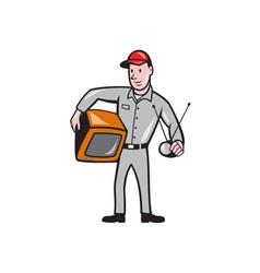 TV Repairman Technician Cartoon vector image