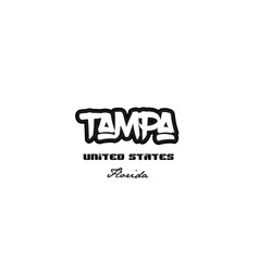United states tampa florida city graffitti font vector