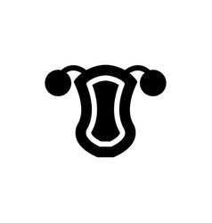 uterus solid icon vector image