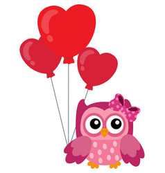 valentine owl topic image 4 vector image