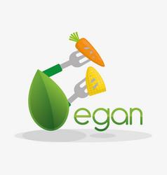 Vegan food healthy nutrition design vector