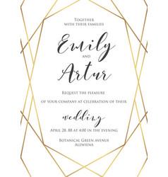 Wedding invite invitation save date card vector