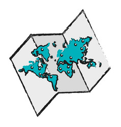 world map ico vector image
