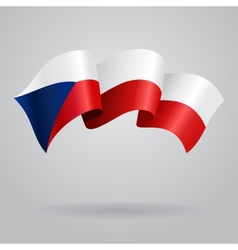 Czech waving Flag vector image
