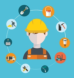 Engineer construction manufacturing worker vector image vector image
