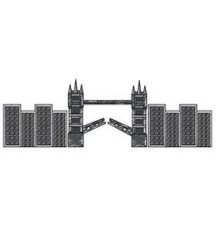 london bridge building urban city landmark vector image