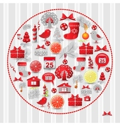 Set christmas modern design vector