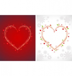 swirly hearts vector image vector image