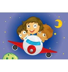 Aeroplane kids vector image vector image