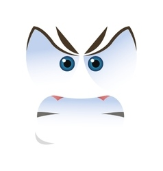 angry emoticon face icons vector image vector image