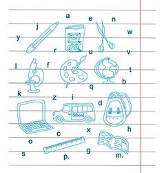 Back to school - pen sketch background vector image vector image