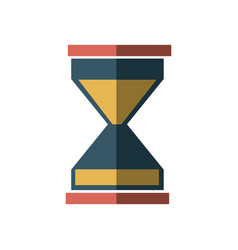 business sand clock icon glass timer symbol vector image
