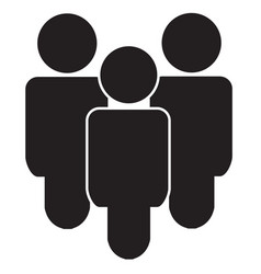 gray group people icon isolated modern simple vector image