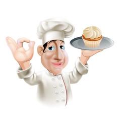 happy baker vector image vector image