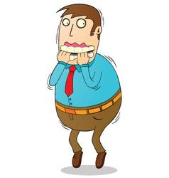 Man in panic vector image