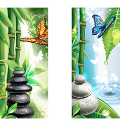 Vertical banners with background of a SPA vector image vector image