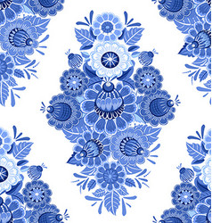 vintage monochrome seamless texture with blue vector image vector image