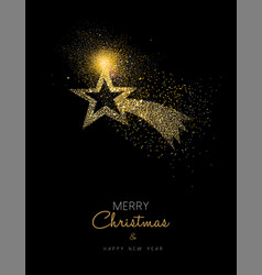 christmas and new year gold glitter star design vector image vector image