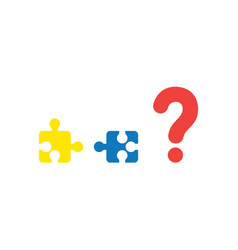 concept two pieces of puzzle that are vector image vector image