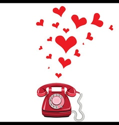 Phone receiver and heart vector image