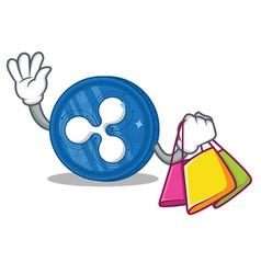 Shopping ripple coin character cartoon vector