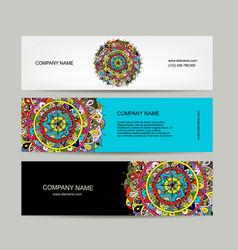 banners design floral mandala vector image vector image