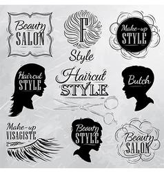 Beauty salon coal vector image vector image