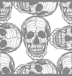 detailed hand-drawn pattern of skull vector image