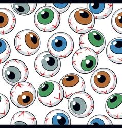eyeballs seamless background vector image vector image