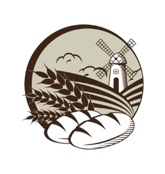 graphic label concept for Agriculture or bakery vector image vector image