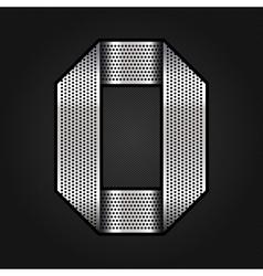 Number metal chrome ribbon - 0 - zero vector image vector image