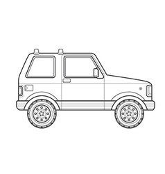 outline off-road suv car body style icon vector image