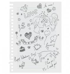 paper love vector image