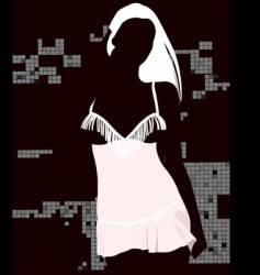sexy black light girl vector image vector image