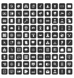 100 security icons set black vector