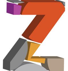 3d font letter z vector image