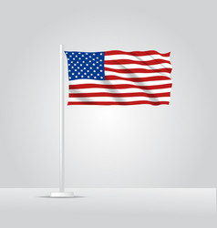 3d realistic united state america flag vector image