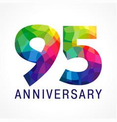 95 anniversary color logo vector