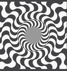 Abstract background of spiraling strips op art vector