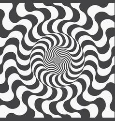 abstract background spiraling strips op art vector image