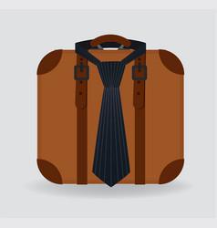 briefcase with a tie vector image