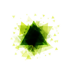 bright abstract background of triangles with frame vector image